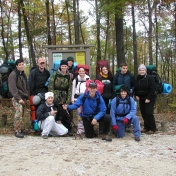 A lovely group of backpackers!