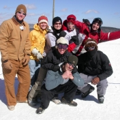 Living it up on Spring Break skiing/snowboarding in Snowshoe, West Virginia!