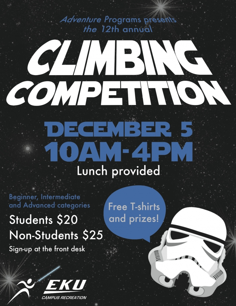 12th annual Climbing Competition December 5, 2015