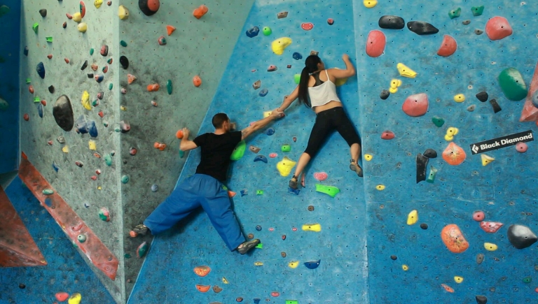 People Climbing Together