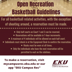 Open Recreation Basketball Guidelines