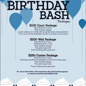 EKU Birthday Party Packages