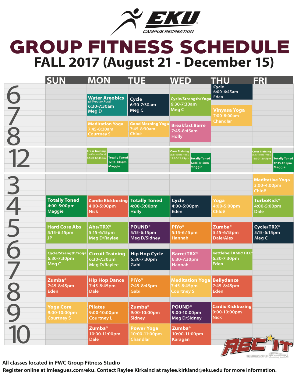 Group Fitness Fall 2017