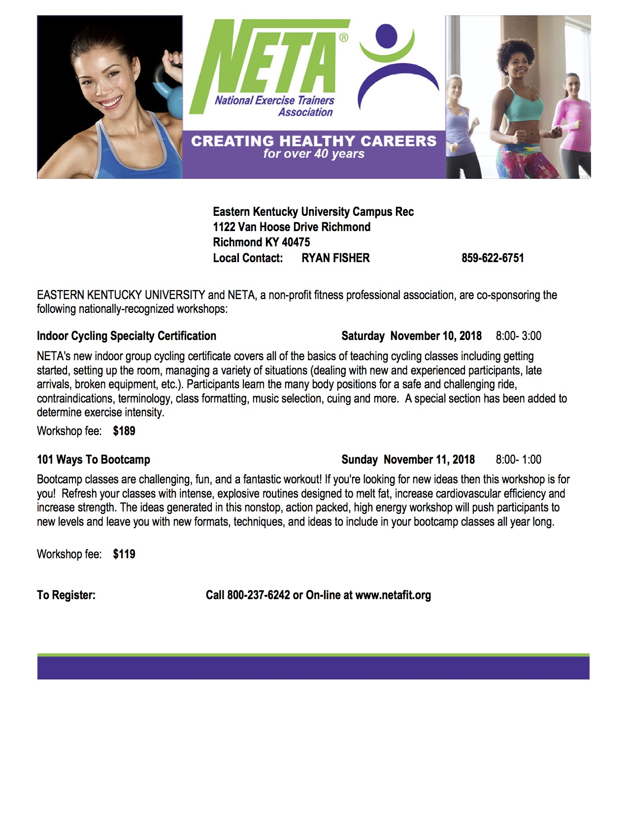 Certifications And Workshops Campus Recreation Eastern Kentucky