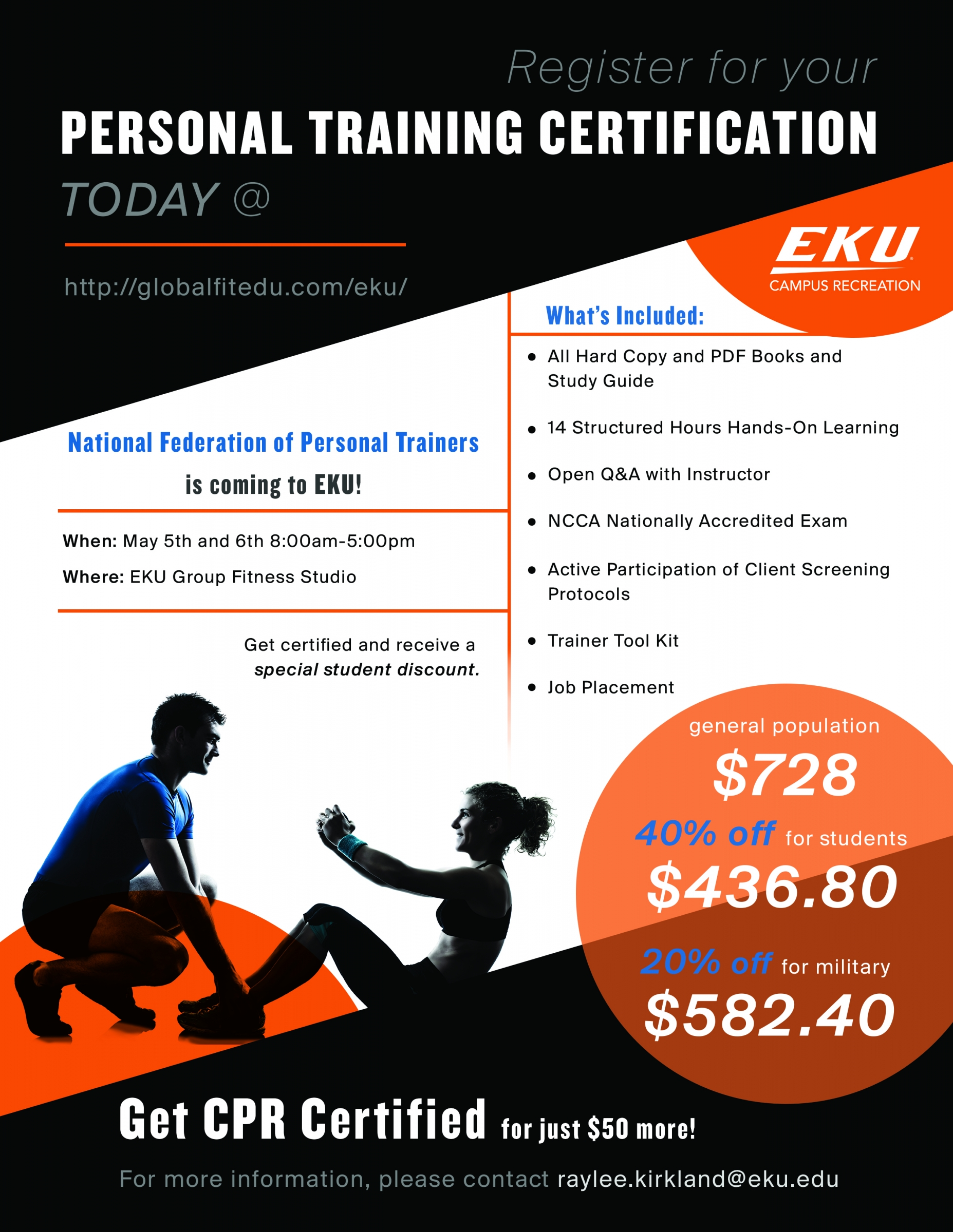 CERTIFICATIONS AND WORKSHOPS | Campus Recreation | Eastern Kentucky ...