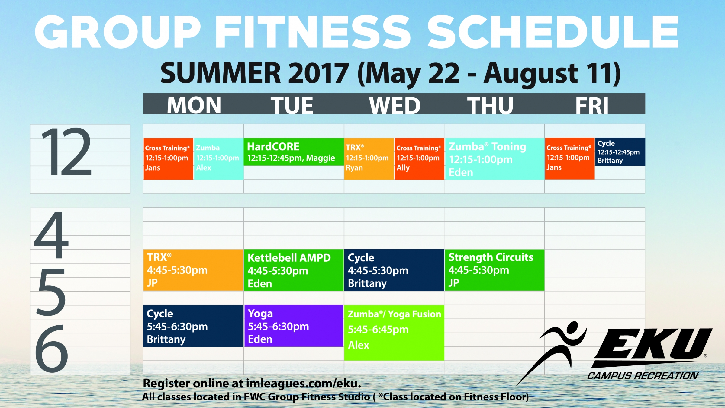 Summer Group Fitness Schedule